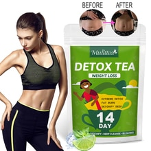 Mulittea Herbal Detox Drink Colon Cleanse Fat Burning Obesity Flat Belly  Slimming Weight Loss Cold