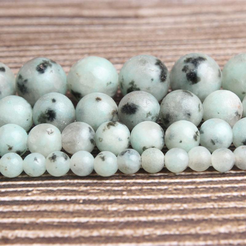 Lan Li moda naturalna biżuteria do montażu na Tianshan niebieski kamień luźne koraliki 6/8/10mm DIY kobieta bransoletka naszyjnik kolczyki do uszu akcesoria