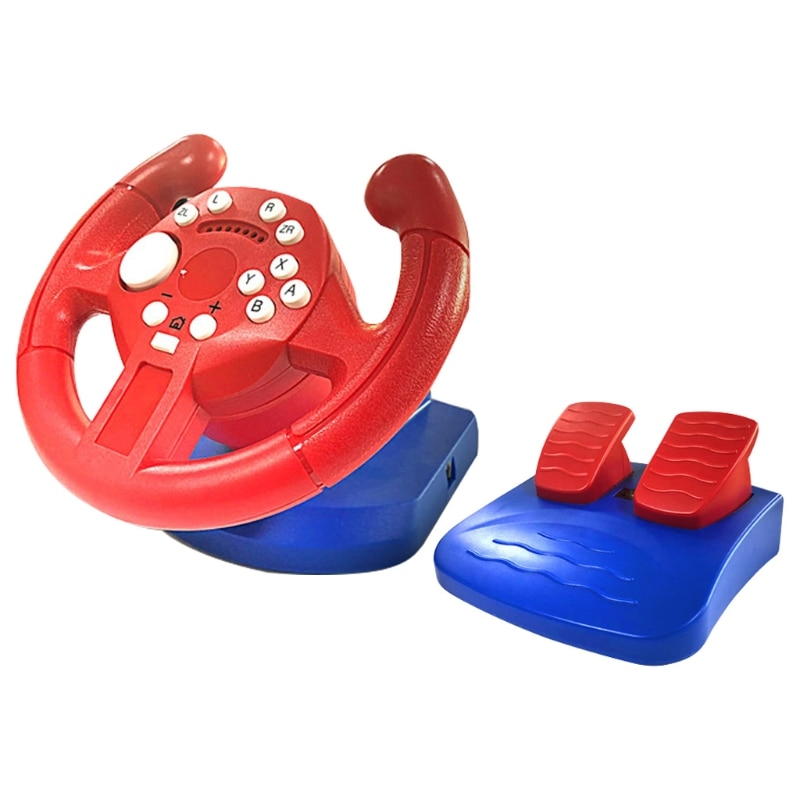 Racing Steering Wheel For Nintend Switch Lite Game Joysticks Remote Vibration Controller Wheels Drive For NS/PC/PS3 dropship