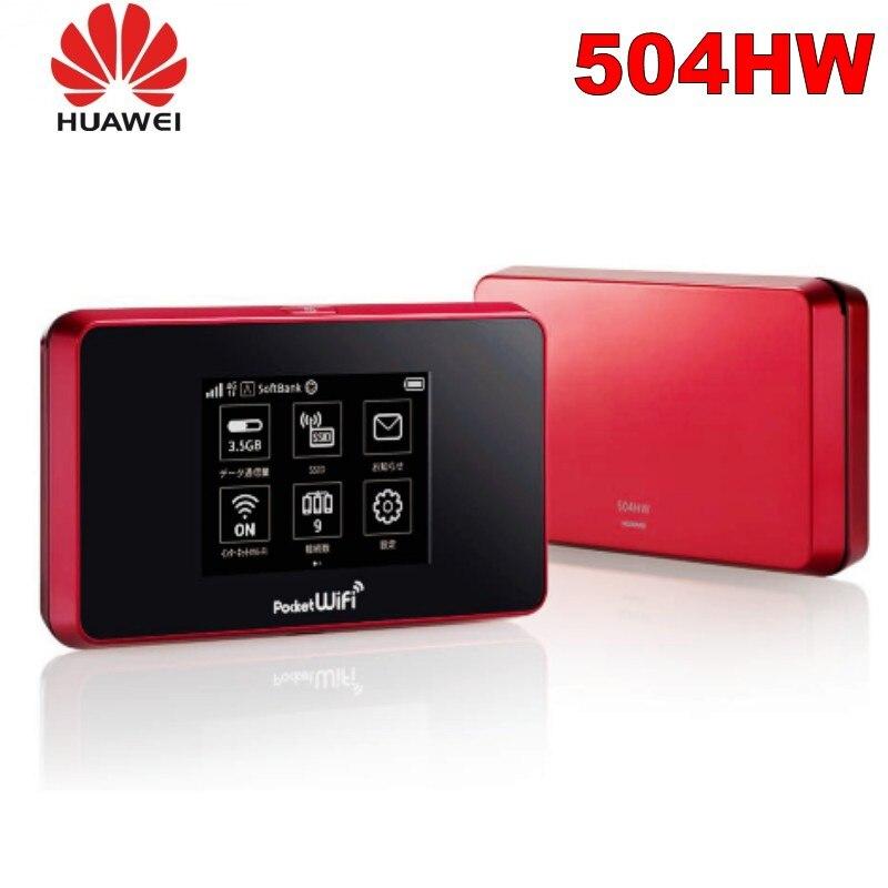 Desbloqueado huawei bolsillo 504hw 4g wifi router mini 4g wifi router con tarjeta sim ranura