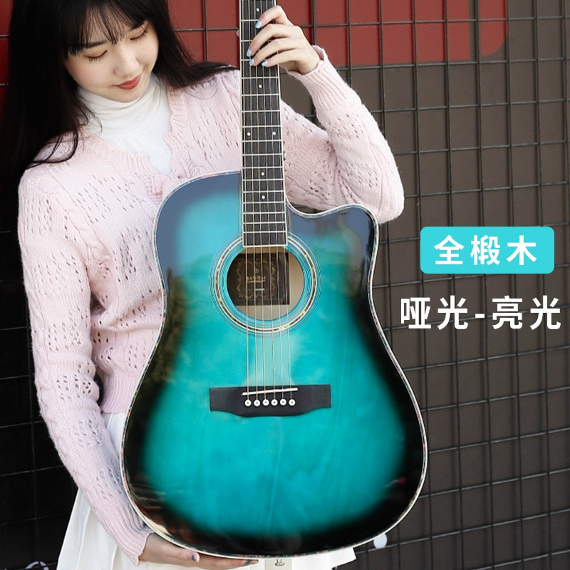 Accoustic Guitar All Solid Wood Electric Blue Professional Performance Guitar Basswood Guitarra Acustica Playing Tools EH50G enlarge