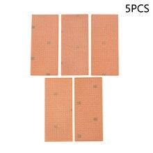 5 Pc PCB Stripboard Bande Prototype de Carte de Circuit Imprimé Piste platine de prototypage Outils