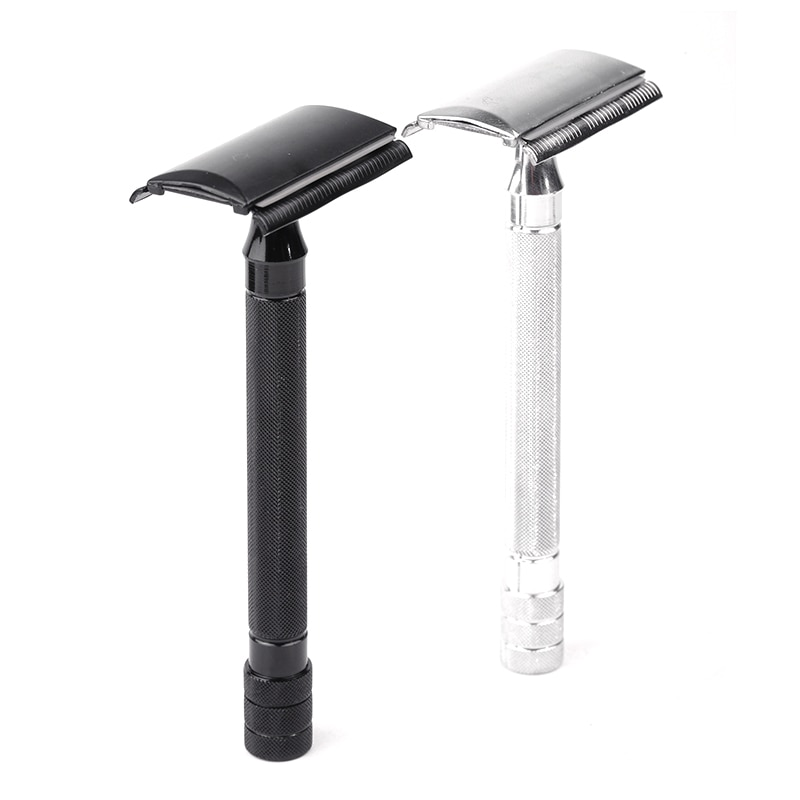 Men Safety Classic Dual Edge Razor Manual Shaver Long Handle Box Safety Razors Beard Care Bathroom P