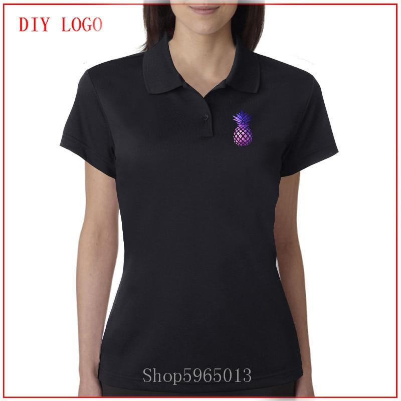 Camiseta para mujer 2020, nueva moda, estampado de piñas, camiseta barata con cuello, camiseta de manga corta para mujer, polo, camiseta para mujer, polo
