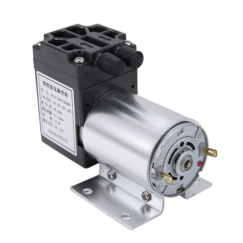 DC 12V 6W Mini Vacuum Pump 5L/min Negative Pressure Suction Air Pump Diaphragm Micro-Vacuum Pump with Holder high quality water circulating multi purpose vacuum pump air drawing rate 10l min