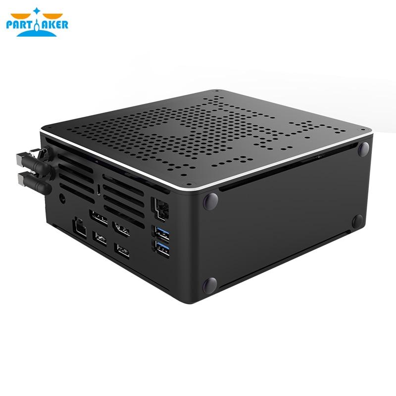 Настольный компьютер 10 поколения Nuc i7 10750H i9 9880H i5-10300H Mini ПК 2 Lan Windows 10 2 * DDR4 2 * M.2 NVME AC WiFi игровой компьютер 4K DP HDMI