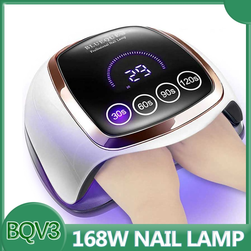 BLUEQUE V3 168W Nail Lamp Large Space 42LED UV Lamp Touch Button Quick Dry Nail Dryer Lamp Professional Lamp For Manicure