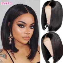 4x4 Lace Closure Straight BOB Wig Human Hair Short BOB Wigs Pre Plucked 8''-14'' Blunt Cut Remy Hair