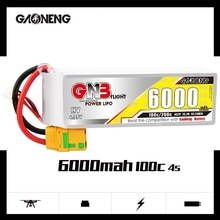Gaoneng GNB 4S 6000mAh 15.2V 100C/200C HV Lipo Battery XT90S Plug for UAV RC Car Boat FPV Drone Heli
