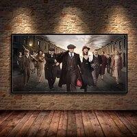 Moderne film scene retro Art affiche homme en costume impression toile peinture et gravure decoration de la maison salon cinema Mural