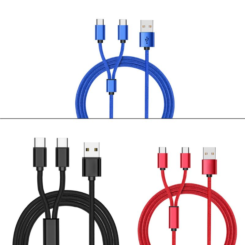 Cable divisor USB 2,0 tipo A macho A tipo C Dual, Cable...