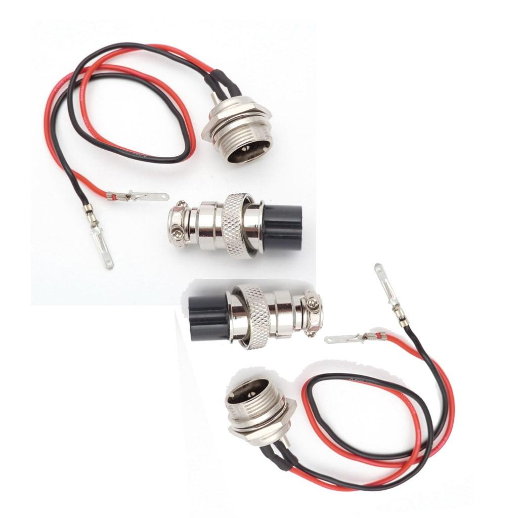 2 комплекта GX16 зарядное устройство 3 зубец розетка, вилка для электрического E бритва скутера велосипед 3 PIN 2 провода