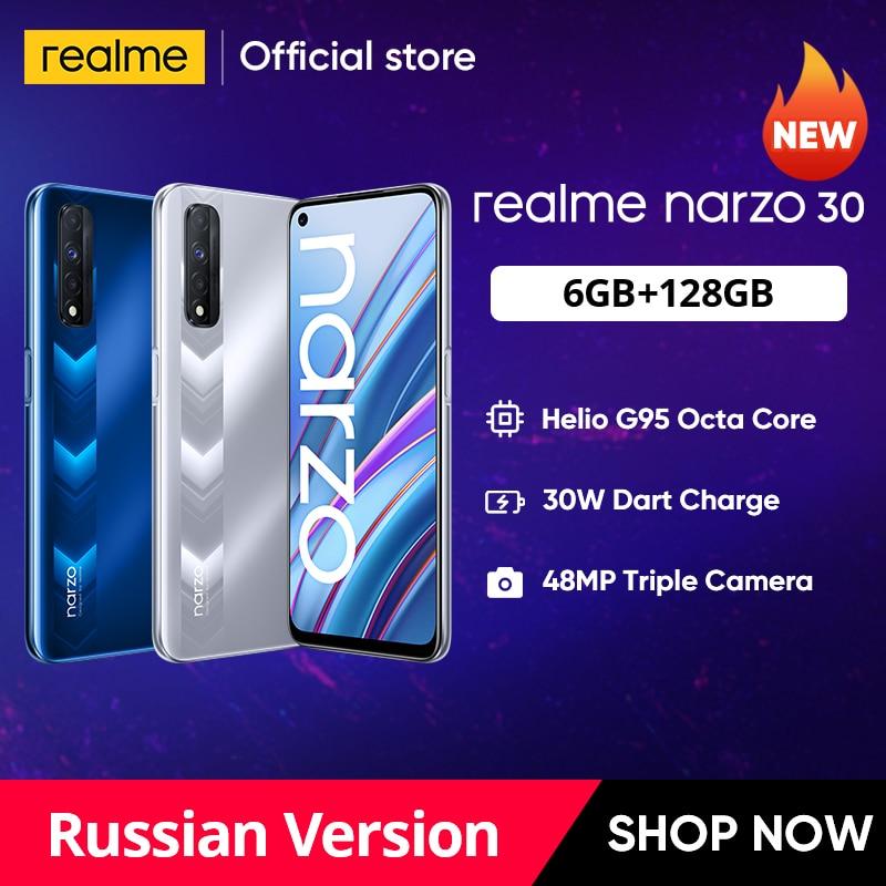 realme narzo 30 Russian Version Smartphone Helio G95 90Hz 6.5'' FHD+ inch DotDisplay 5000mAh 48MP Triple Camera 30W Dart Charge