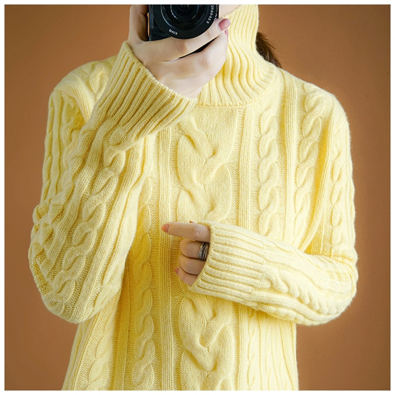 Women Sweaters And Pullovers  Feminino 2020 Winter Sweater Women Cashmere Turtleneck Loose Thick Warm Pullover Wool enlarge