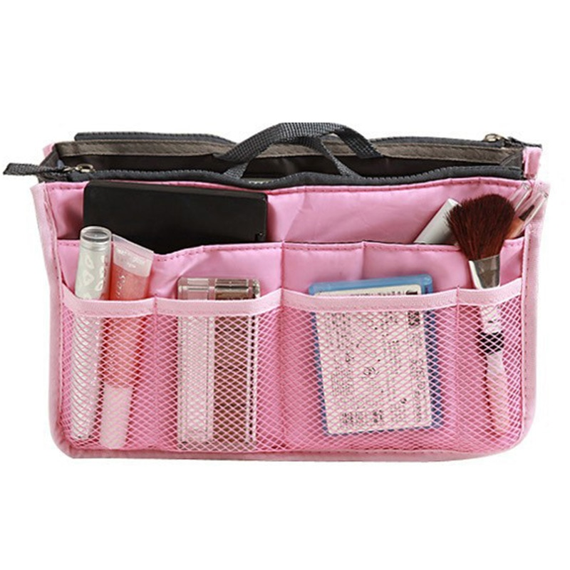 Bolsa de almacenamiento de viaje, bolsa de maquillaje de gran capacidad, bolsa de almacenamiento con cremallera, bolsa de maquillaje portátil impermeable, organizador, bolsa de cosméticos de viaje