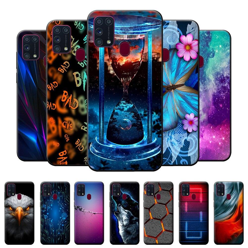 Para samsung m31 caso tpu caso para samsung galaxy m31 caso em m315f silicone macio capa de telefone para samsung m31 m 31 fundas raposa 6.4