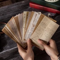 60pcs Junk Journal Pages Antique Writing Papers Retro Style Book Pages Material Paper Vintage Kraft Paper Craft Background Paper