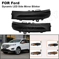 for 2015 2016 2017 2018 ford edge dynamic led side mirror light rearview mirror turn signal light flash repeater indicator lamp