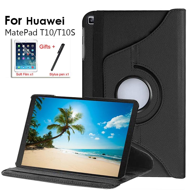 Funda de cuero para tableta inteligente Huawei Matepad T10S, 10,1
