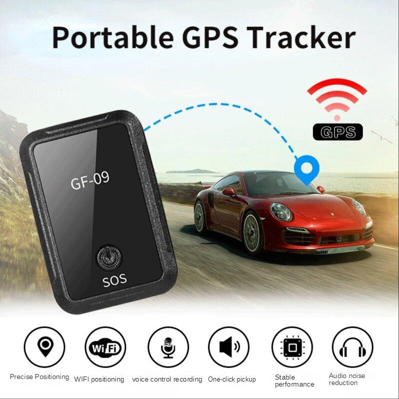 Автомобильный мини-трекер GF09, магнитный автомобильный GPS-локатор, устройство слежения с функцией записи, голосовое управление, телефон, Wi-Fi, ...