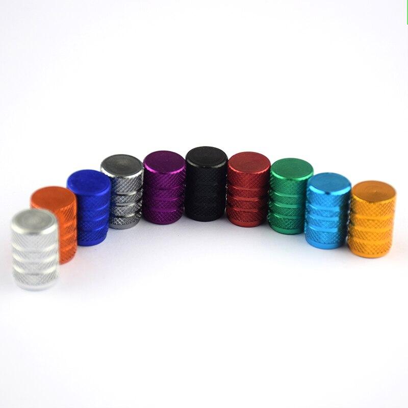 4 Uds tapas de válvula Universal a prueba de polvo de aleación de aluminio tapón para vástago de válvula de bicicleta cubierta de neumático de rueda coche camión tubo bicicleta accesorios