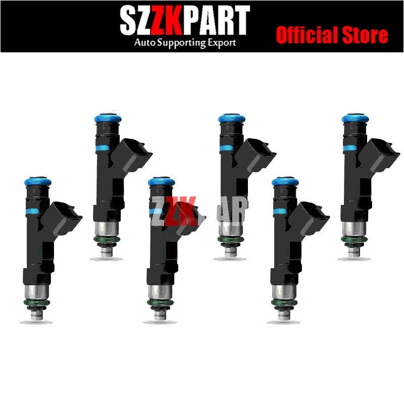 Inyectores de combustible para Mitsubishi 3.7L vehículos 0280158020 53032701Aa 4 agujeros actualizaciones inyectores de combustible