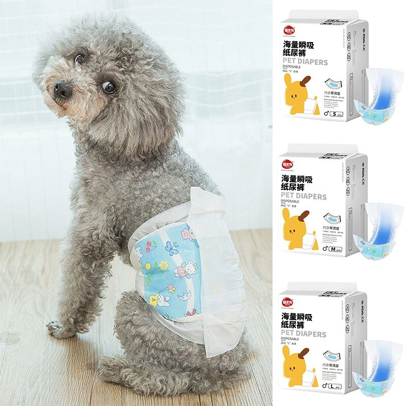 Pet Disposable Diaper Male Dogs Super Absorption Physiological Pants Comfortable Puppy Treddy Disposable Leakproof Nappies