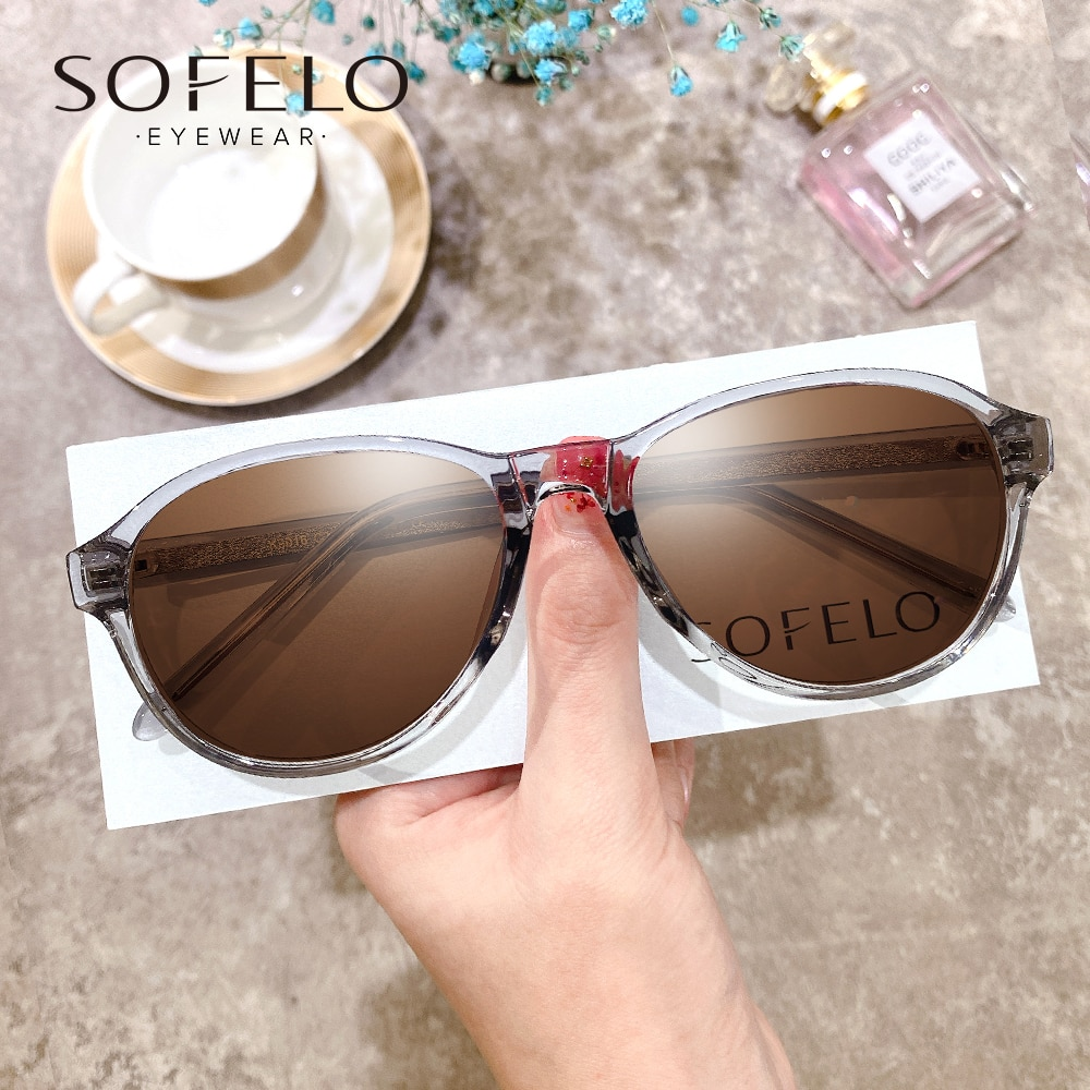 Korea Multifocal Prescription Sunglasses Female Polarized UV400 Optical Progressive Sun Glasses For