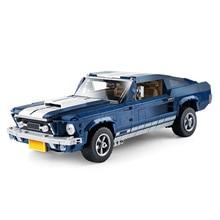 Blocs de construction à brides Forded créateur technique Compatible Kits de modèles classiques jouets Mustang course bloc de voiture briques enfants cadeaux