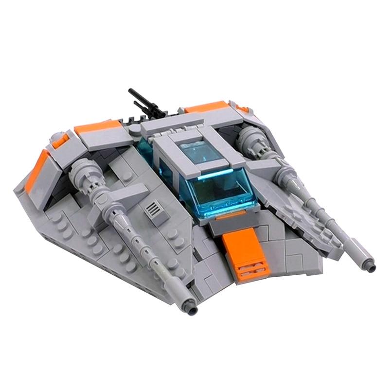 Строительные блоки MOC Space Battle Series, космический корабль, модель военного коптера, высокотехнологичные блоки, игрушки «сделай сам» для мальчик...