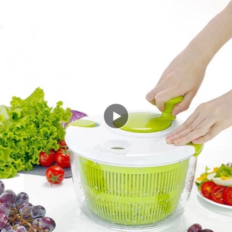 Salad Spinner Lettuce Greens Washer Dryer Drainer Crisper Strainer Washing Kitchen Tools Large Capacity Drying Leafy Vegetables
