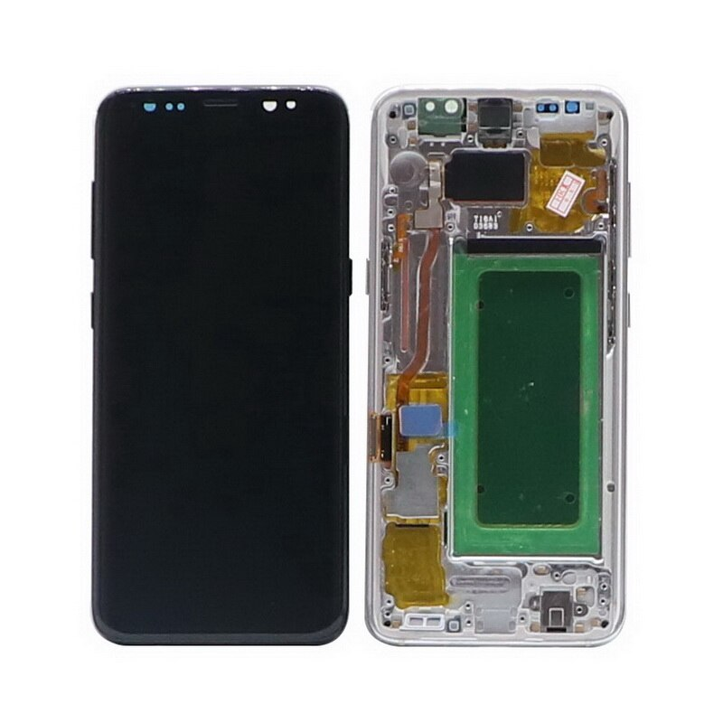 Original Super AMOLED S8 Display With Frame For Samsung Galaxy S8 G950 G950F LCD S8 PLUS S8+ G955 G955F LCD Display Touch Screen enlarge
