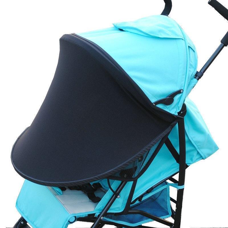Baby Stroller Sunshade Cloth  Windproof Umbrella Black Sunshade Universal Accessories 1 Piece
