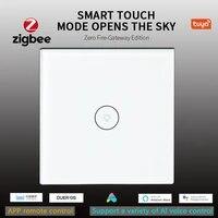 Interrupteur mural intelligent wi-fi  1 2 3 voies  ecran tactile en verre  commande vocale sans fil  avec Alexa et Google Home