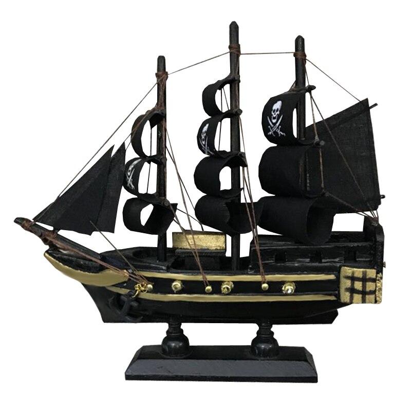 Luckk venda quente caribbean corsair veleiro 3d montagem de madeira zeilboot modelo corsair preto decoratie barcos à vela brinquedos presentes