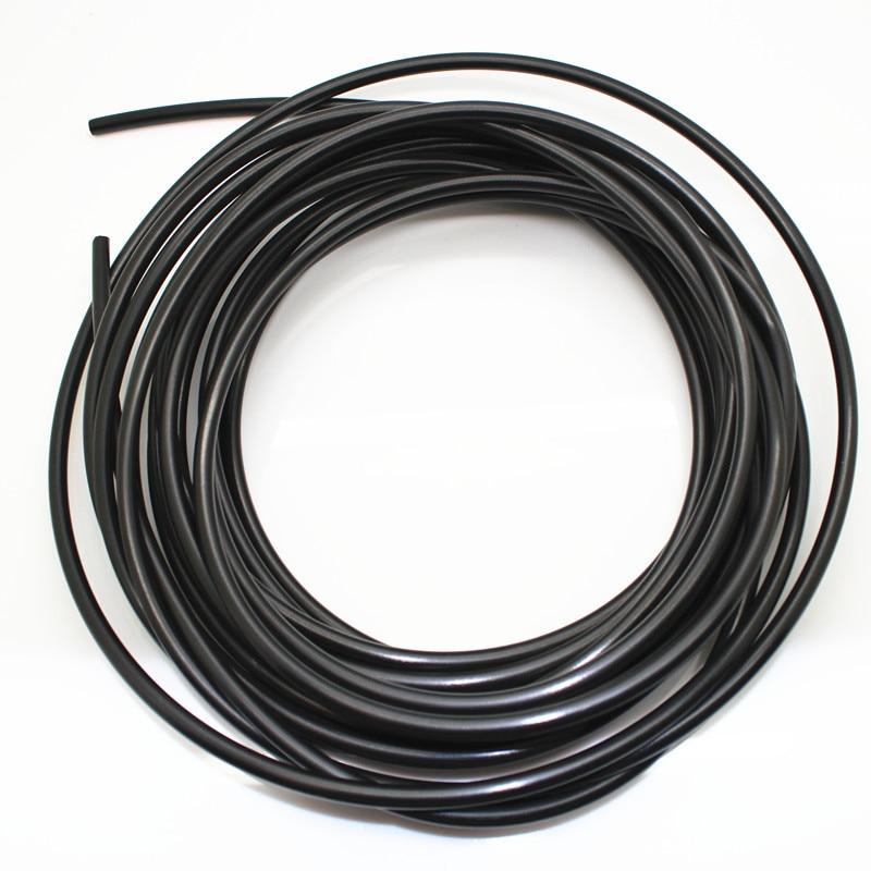 Tubo de plástico PE de 50m, diámetro de la manguera de agua 6mm para neblina a baja presión, sistema de pulverización negro para sistema de enfriamiento por nebulización