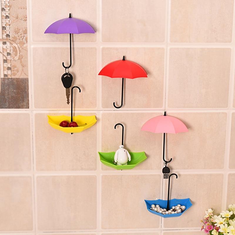 Cangkuk payung tanpa tanda tanpa penggerudian, cangkuk pelekat diri - Organisasi dan penyimpanan di dalam rumah - Foto 5