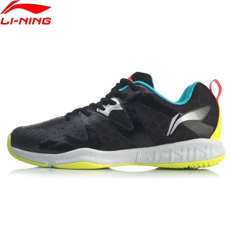 (Перерыв код) Li-Ning Для мужчин бадминтон тренировочные кроссовки из дышащего материала светильник-Вес подкладка стабильный Поддержка Спортивная обувь Кроссовки AYTQ003-0