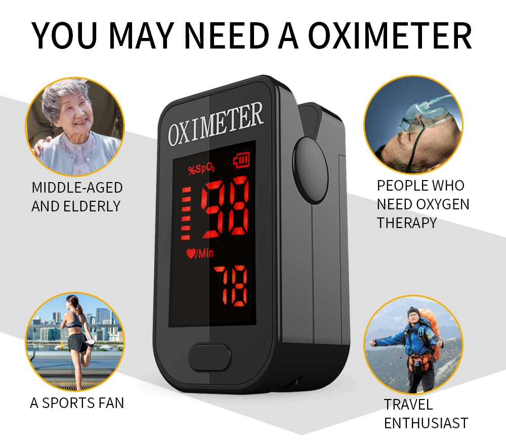 PRCMISEMED Household Digital Fingertip pulse Oximeter Blood Oxygen Saturation Meter Finger SPO2 PR Monitor health Care CE