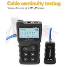 Verificador atual do verificador do cabo da rede do lcd multi-funcional com verificador do ponto de entrada do verificador do cabo do verificador do cabo