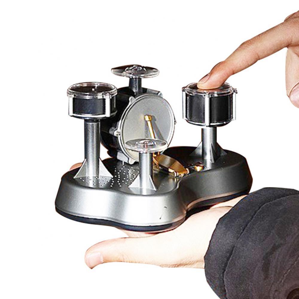 Mini LED Finger Touch Drum Set Educational Musical Instruments Toy for Children neje dg0006 1 mini finger touch drums set musical toy silver black