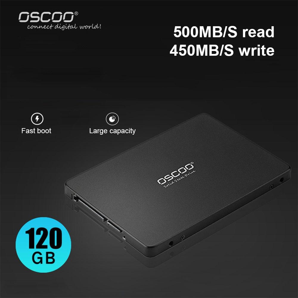 OSCOO SSD-001 TLC 2258XT 2.5 بوصة SATA3 SSD 120GB/240GB/480GB محركات أقراص الحالة الصلبة قرص صلب للكمبيوتر المحمول