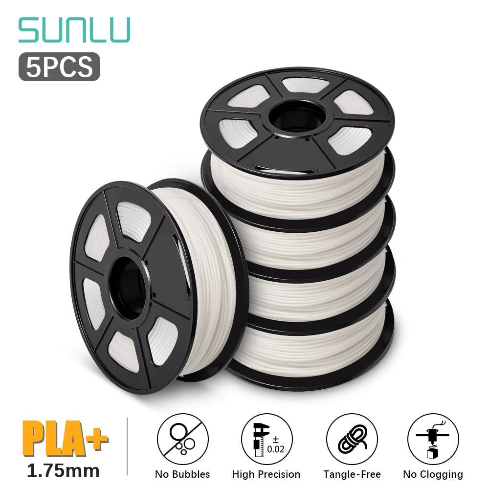 SUNLU PLA Filament  PLA PLUS 5KG 3D Printer Filament PLA + 5pcs 1KG A Roll  1.75MM -/+ 0.02MM Filament Extruder  3D Pen sunlu filament 10kg petg 3d printer filamen pla filament 1kg a roll filament extruder 3d pen