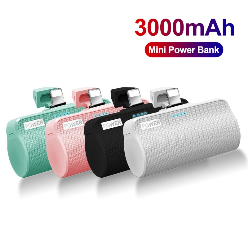 3000mAh Mini Power Bank For iPhone12 External Battery Powerbank Powerful Charger Portable Poverbank