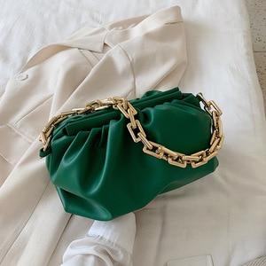 Luxury Design Gold Chain Handbags Women Shoulder Bag 2021 New Fashion Armpit bag Tote Cloud Pouch Clutches Female Purses