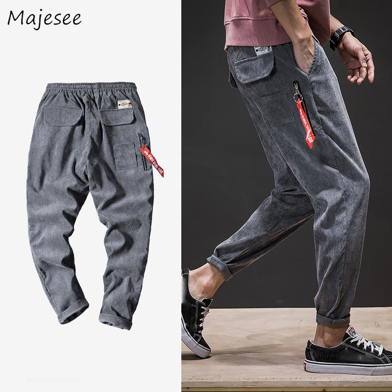 Pants Men 2020 Fall Street Wear Fashion Plus Size Pockets Loose Harem Pant Mens Leisure Punk Streetwear Hip Hop High Quality