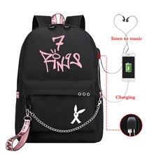 Trendy Ariana Grande Backpack Women Laptop Backpacks Teenager Girl School Bag Korean Bookbag Travel Rucksack All-match Mochila