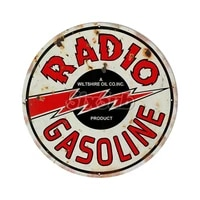 distressed reproduction radio motor oil car moto stickers decals 027015