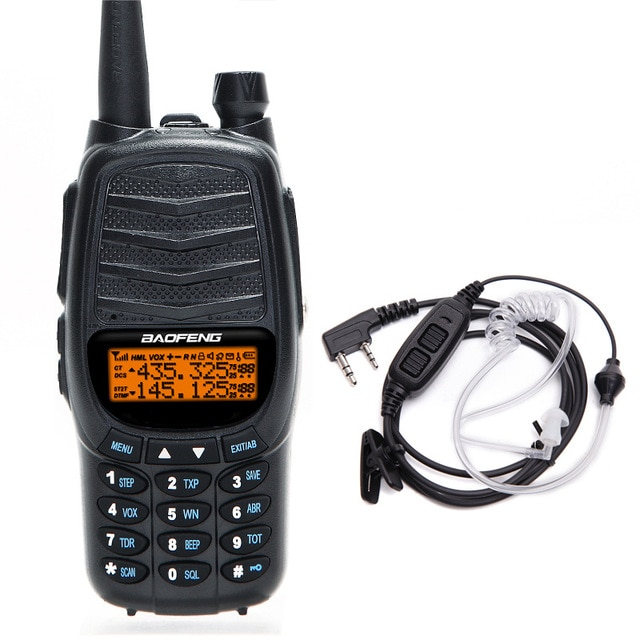 De BAOFENG UV-X9 más Walkie Talkie doble Ptt VHF/UHF 134-174/400-520MHz 10km Radio portátil actualizado de uv-82 + acústico auriculares