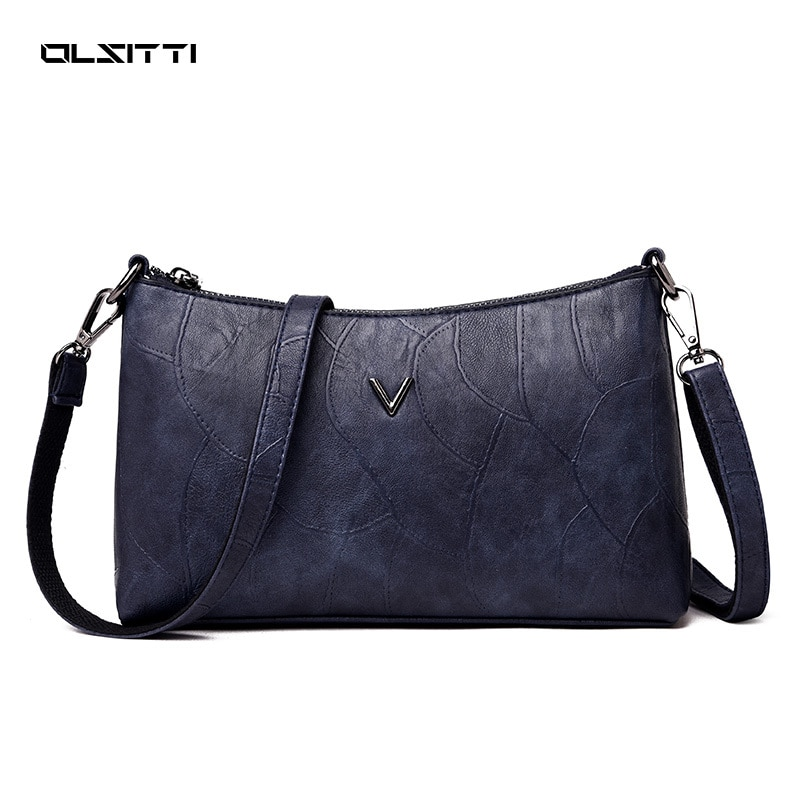 OLSITTI High Quality PU Leather Crossbody Bags for Women 2021 Simple Ladies Retro Elegant Black Smal